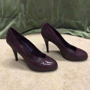 Nine West round toe heels, Bordeaux Sz 10.5 M